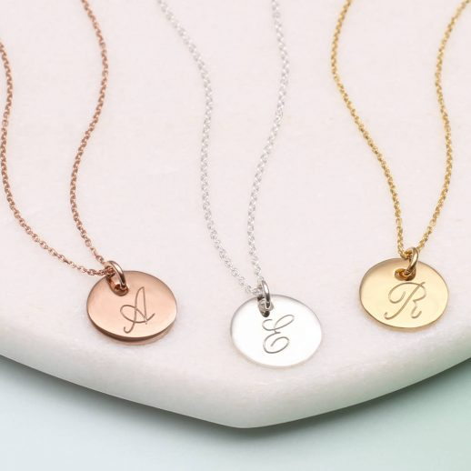 original_personalised-gold-or-silver-initial-disc-necklaces