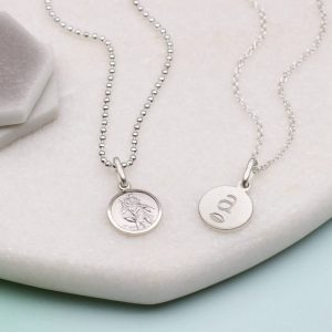 Personalised Mini St Christopher Necklace