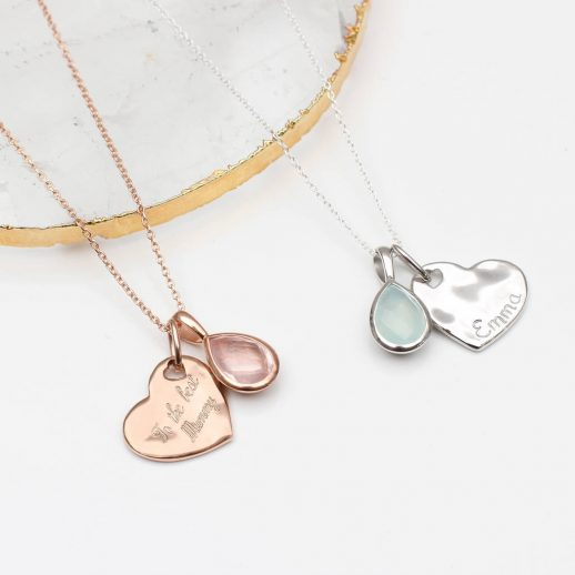original_personalised-hammered-heart-and-gemstone-necklace