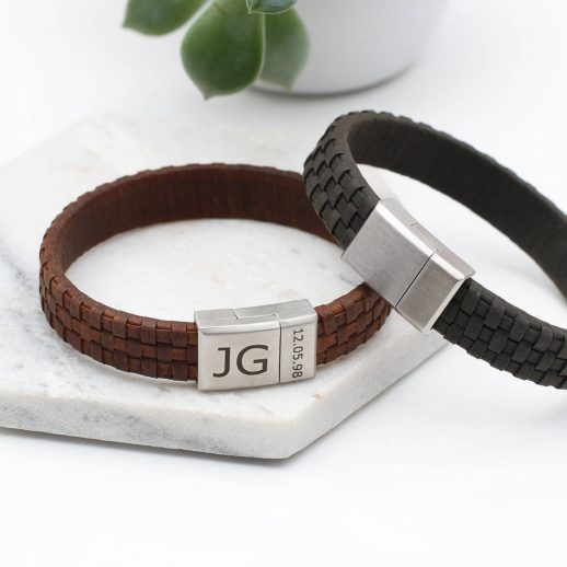 original_men-s-personalised-date-and-initial-leather-bracelet