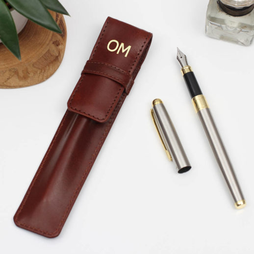 original_personalised-antiqued-brown-leather-pen-holder-and-pen-1